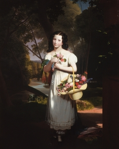 Little Girl with Flowers (Amelia Palmer)