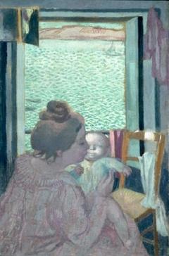 Maternité devant la mer ou Maternité au Pouldu