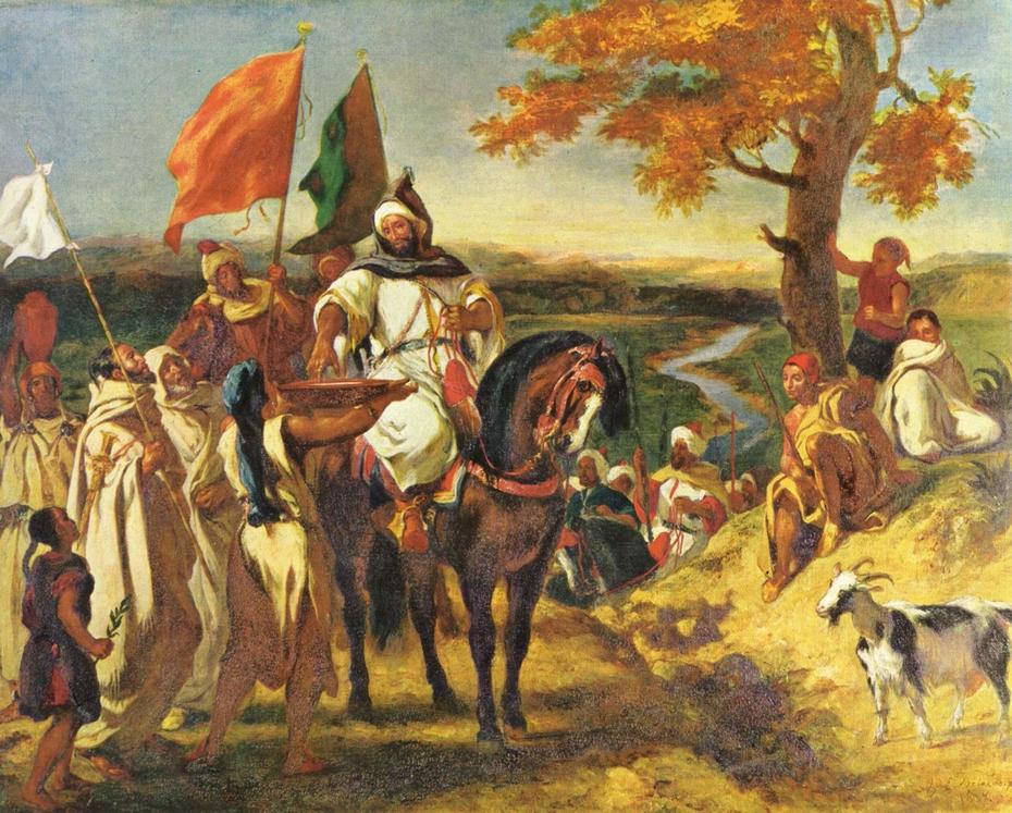 Moroccan caid visiting his tribe