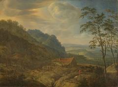 Mountainous Landscape with Farm