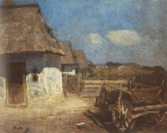 Peasant Yard with a Cart