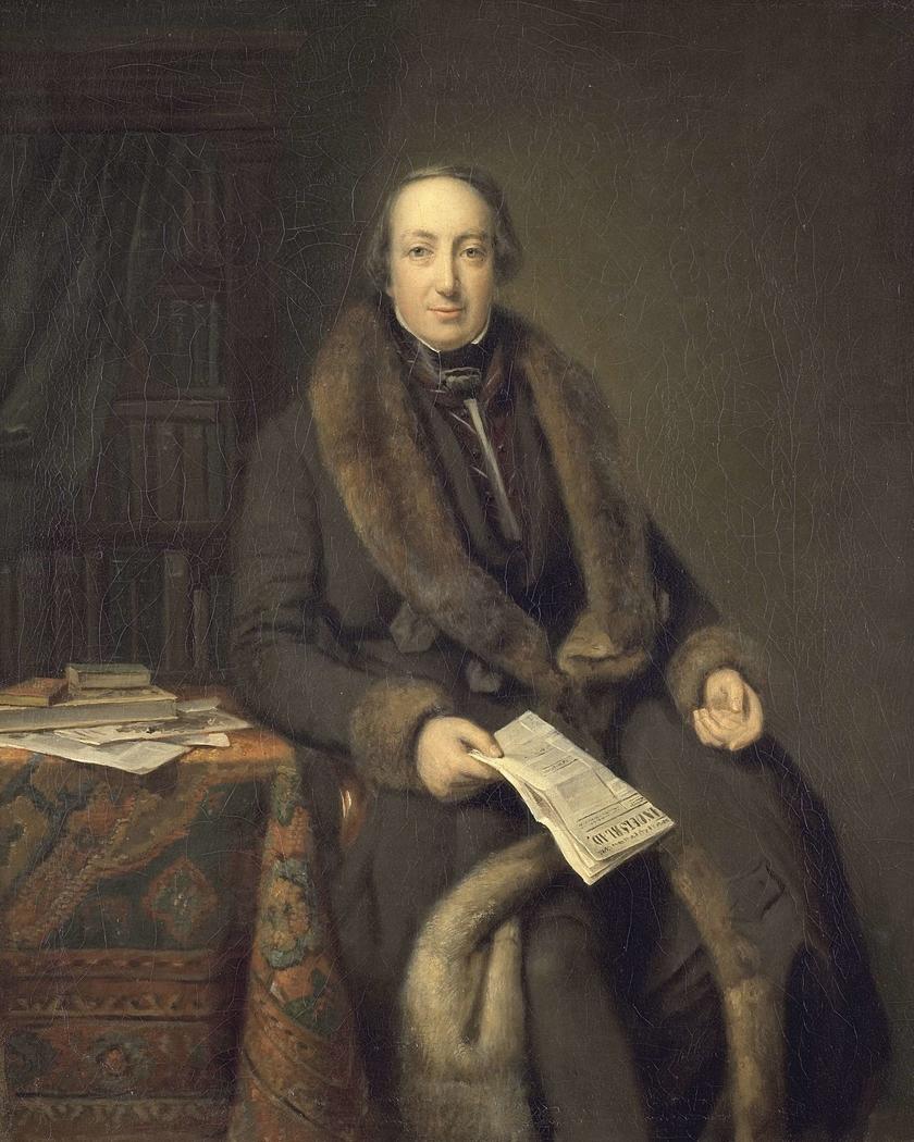 Pieter Arnold Diederichs (1804-74). Boekhandelaar te Amsterdam en oprichter van het Algemeen Handelsblad in 1828