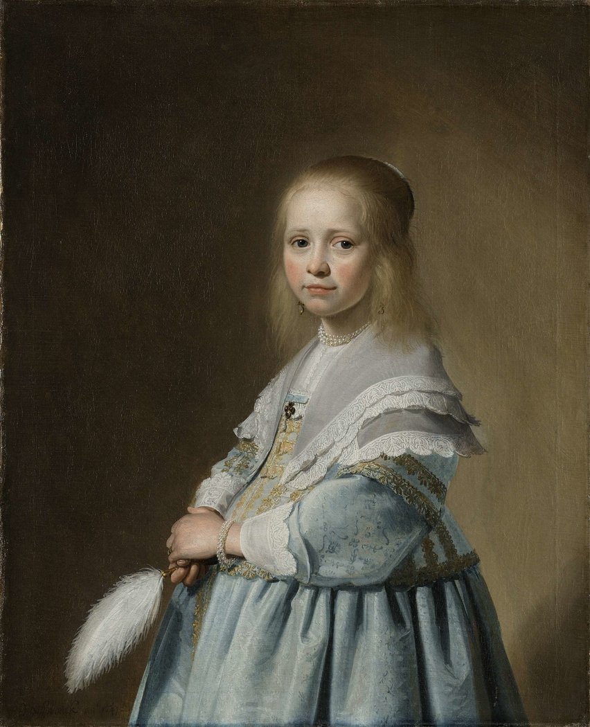 Portrait of a Girl Dressed in Blue