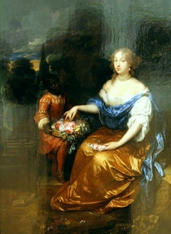 Portrait of an unknown lady, with a Black page