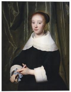 Portrait of Esther Bary (1630-1696), ca. 1652, bride of Jan Hendrik Lestevenon