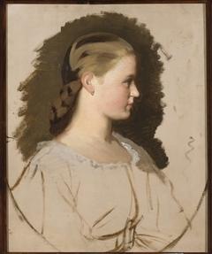 Portrait of Klementyna Szembek née Dzieduszycka, sketch