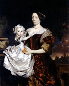 Portrait of Maria Colve and her daughter Anna Maria Nieupoort