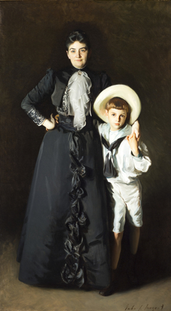 Portrait of Mrs. Edward L. Davis and Her Son, Livingston Davis