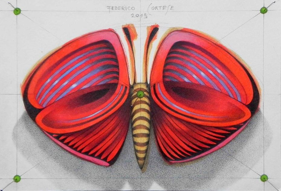 red little butterfly
