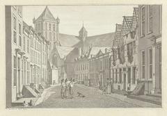 Ruïne van het huis van Lucas van Steveninck te Middelburg, 1787