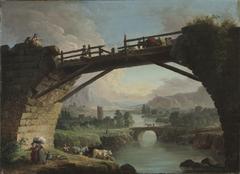 Ruined Bridge with Figures Crossing