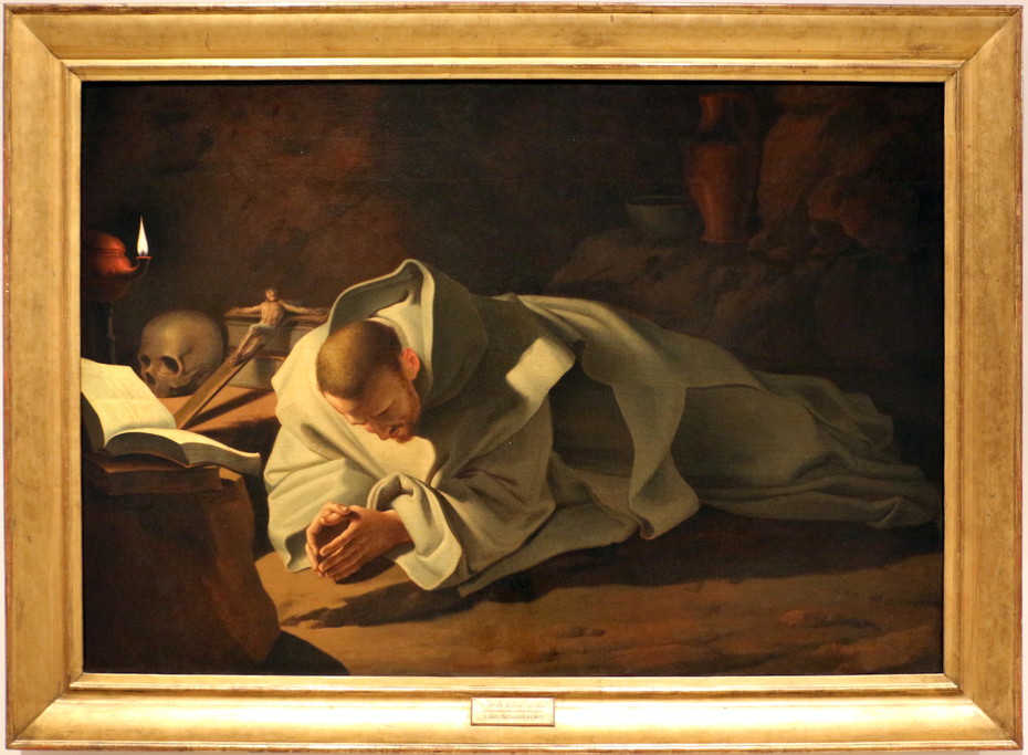 Saint Bruno in prayer