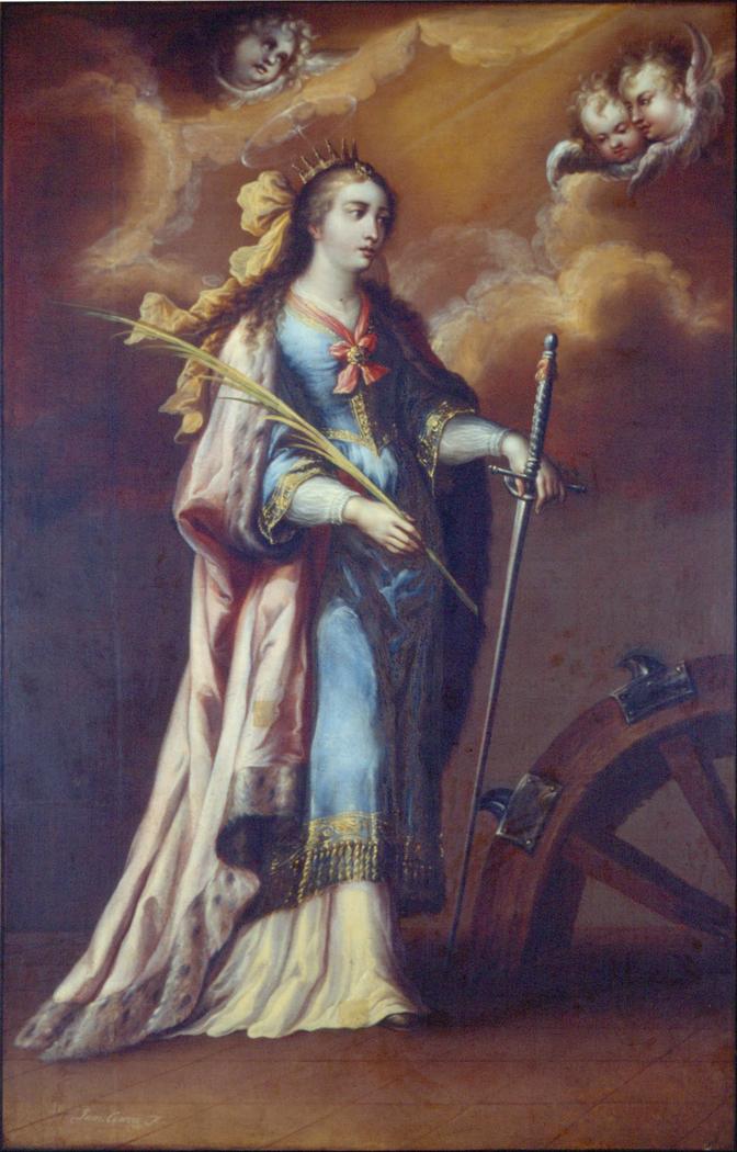 saint catherine of alexandria juan correa artwork on useum