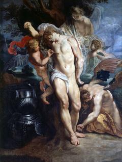 Saint Sebastian Healed by Angels