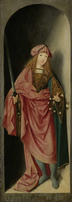Saint Valerian, left wing of a triptych