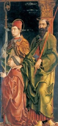 Saints Maurelius and Paul with Niccolò Roverella