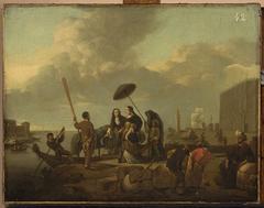Scene in a port
