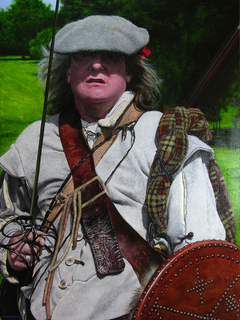Scottish Soldier of the Sealed Knot at the Ruthin Seige Re-enactment.