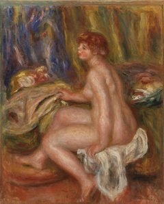 Seated Female Nude, Profile View (Femme nue assise, vue de profil)
