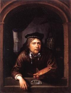 Self-Portrait in a Window