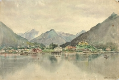 Sitka from the Islands, Showing Russian Castle, 1888