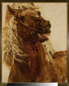 """Sketch of horse's head for the painting """"Zamoyski at Byczyna"""""""