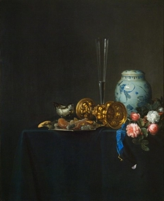 Still Life with a Golden Goblet and Roses