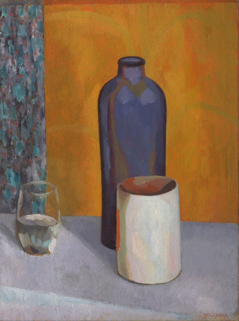 Still-life with blue bottle