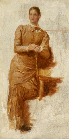 Study of a Lady leaning on a Chair