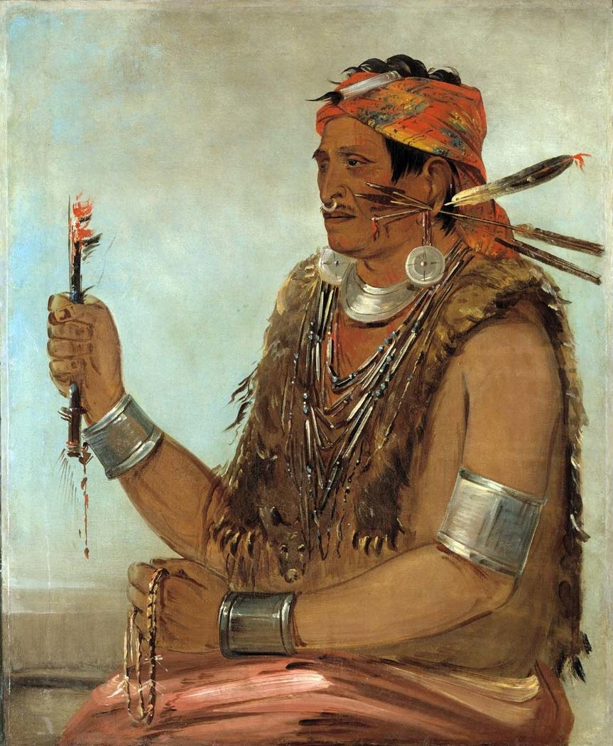 Ten-sqúat-a-way, The Open Door, Known as The Prophet, Brother of Tecumseh