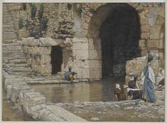 The Blind Man Washes in the Pool of Siloam (Le aveugle-né se lave à la piscine de Siloë)