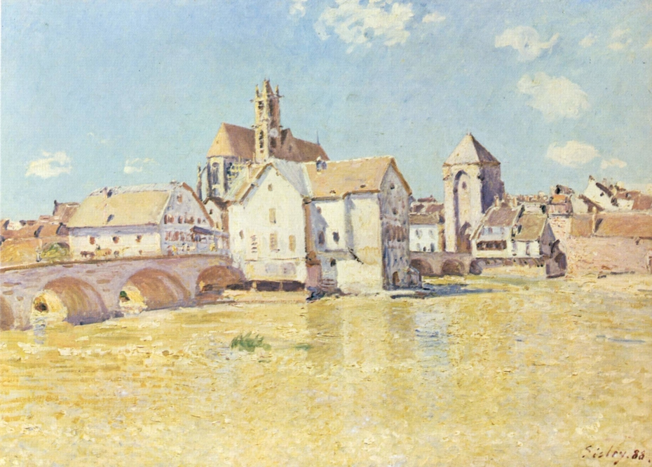 The Bridge in Moret in the Morning Light