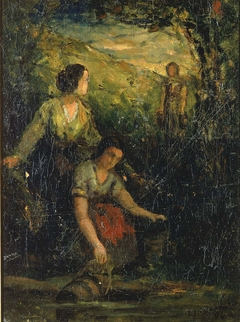The Drinking Pool (three women at water)