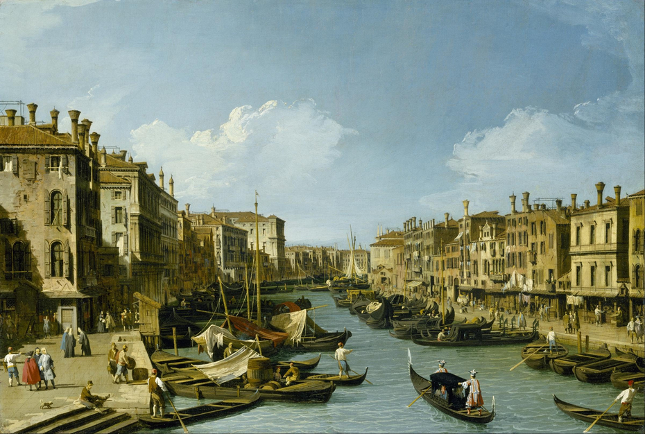 The Grand Canal near the Rialto Bridge, Venice
