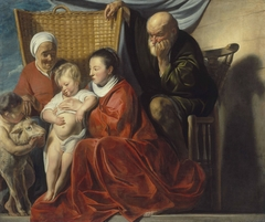 The Holy Family with Anna and the boy John