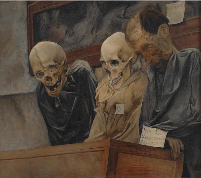 Three Skulls from Convento dei Cappucini at Palermo
