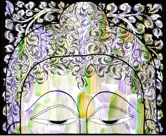 Tree of life in Buddha