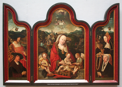 Triptych of Pompeius Occo and his Wife  Gerbrich Claesdr.