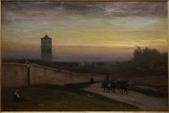 Twilight, oil on canvas painting by George Inness, 1875