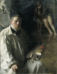 Self-Portrait with a Model