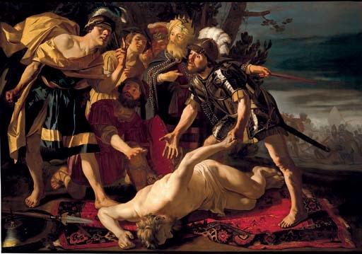 Mucius Scevolla devant Porsenna ou Achille prépare à venger la mort de Patrocle