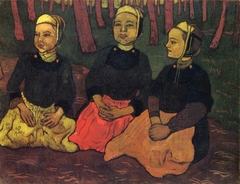 Three Breton Women in the Forest