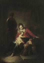 De Heilige Familie met de Heilige Johannes de Doper