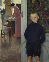 Enfant et femme dans un intérieur