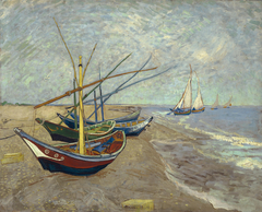 Fishing Boats on the Beach at Les Saintes-Maries-de-la-Mer