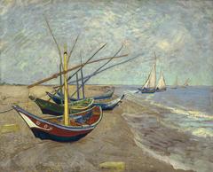 Fishing Boats on the Beach at Les Saintes-Maries-de-la-Mer