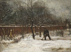 The rectory garden in Nuenen in the Snow