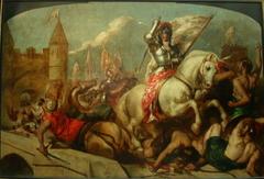 eanne d'Arc à la sortie d'Orléans, repoussant les Anglais