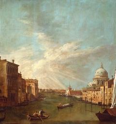 Venice: The Grand Canal towards the Bacino, with Santa Maria della Salute