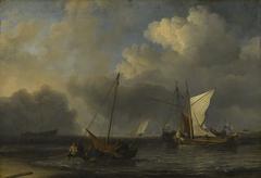 Vessels off the Dutch Coast in a Moderate Breeze
